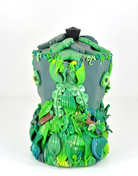 'JUNGLE' – Polymer Clay (on Coffee Pot armature) – $140