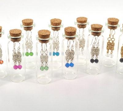 Chainmaille_Drop_Earrings_in_Bottles_WEB