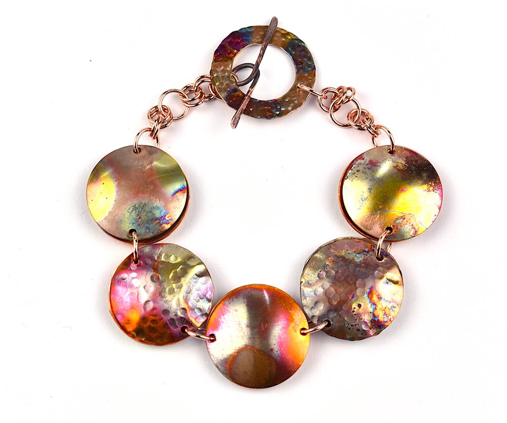 Flame Coloured-Copper-Bracelet-Workshop-1