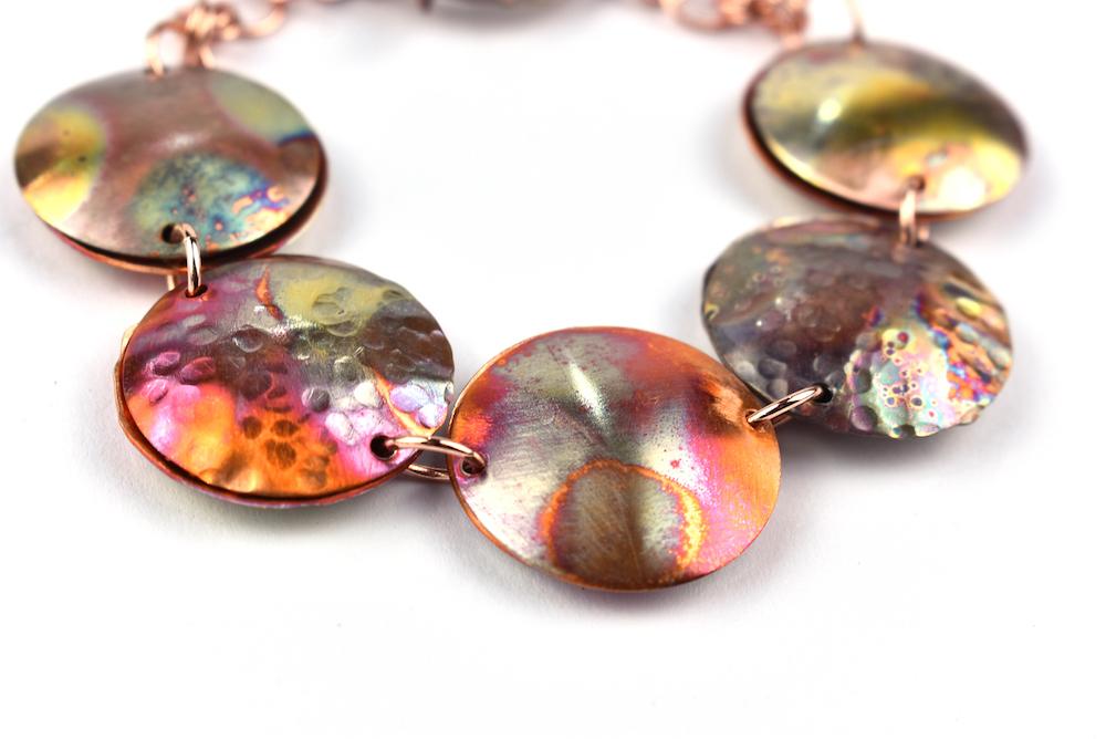 Flame Coloured-Copper-Bracelet-Workshop-2