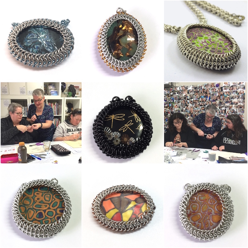 Maille Mania Chainmaille Bezel Workshop Collage