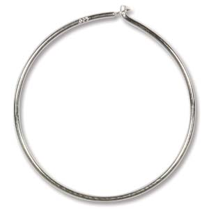 Whimsical Hoops silver